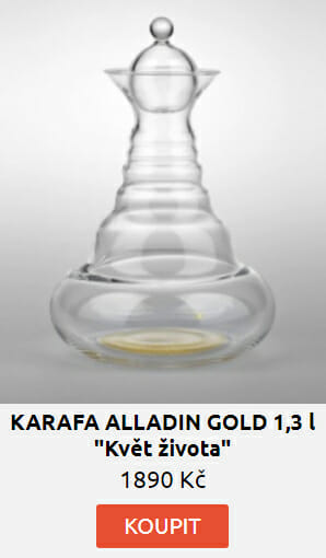 "KARAFA ALLADIN GOLD 1,3 l -""Květ života"""