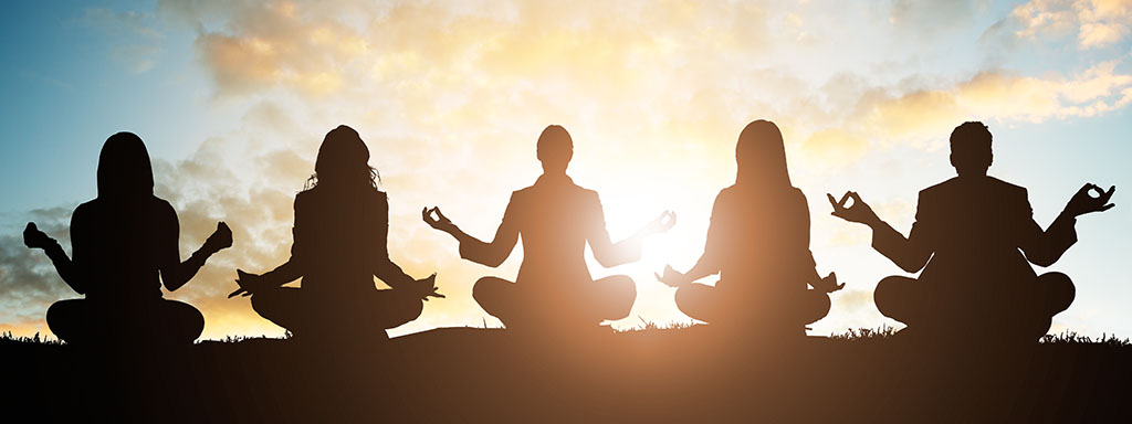 Meditace na odstranění hmotných parazitů.