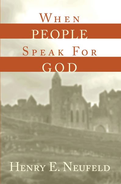 When People Speak for God - Large Front Cover