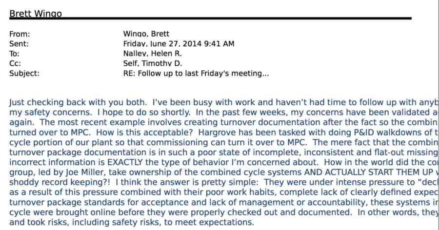 Brett Wingo Email June 27 2014
