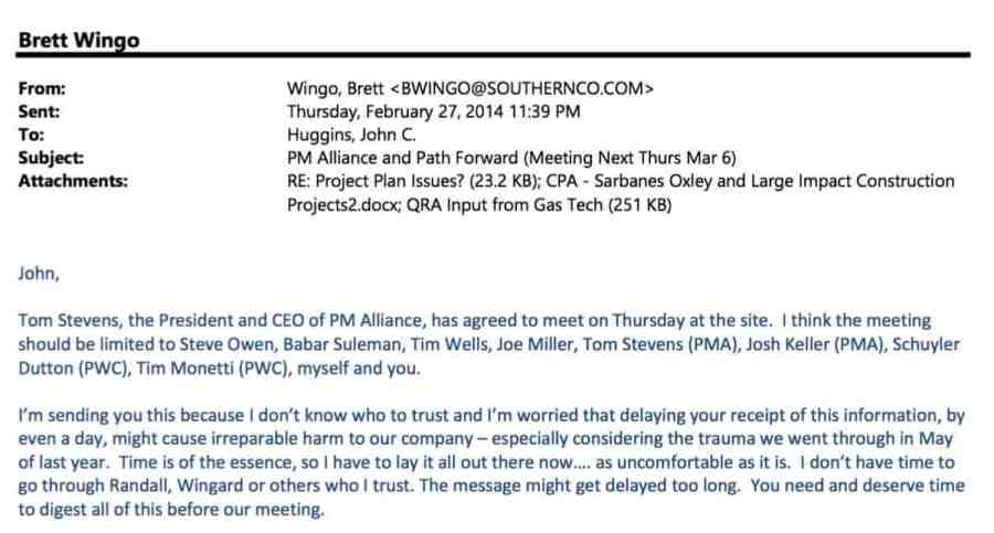 Brett Wingo email Feb 27 2014