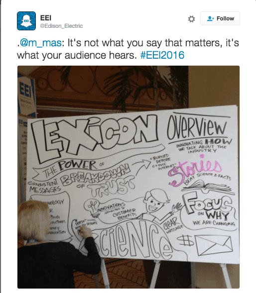 """""""Stories beat science and facts."""" This Edison Electric Institute Tweet sums up the rationale behind the Lexicon Project."""