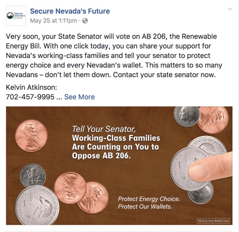 A Secure Nevada's Future Facebook against AB206