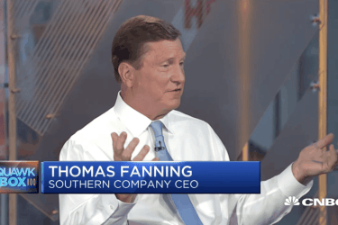 Tom Fanning appears on CNBC on August 16, 2017.