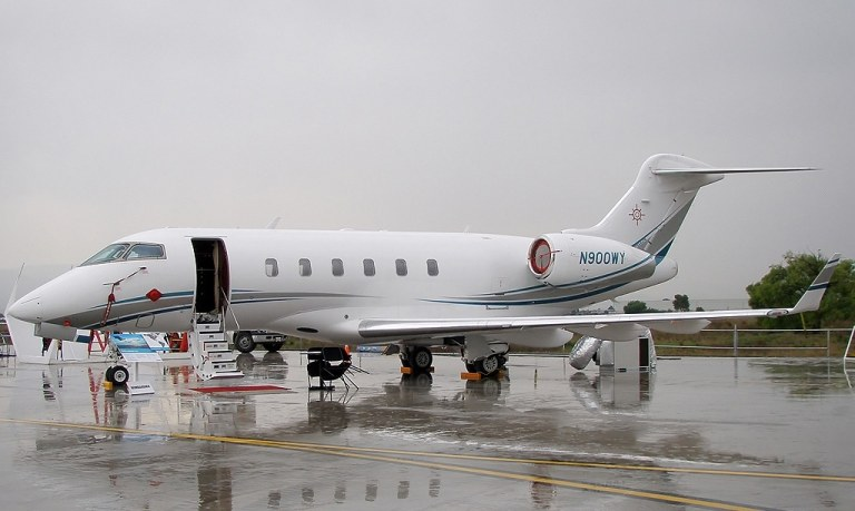 Bombardier BD-100-1A10 business jet - one of the types of jets registered to Exelon.