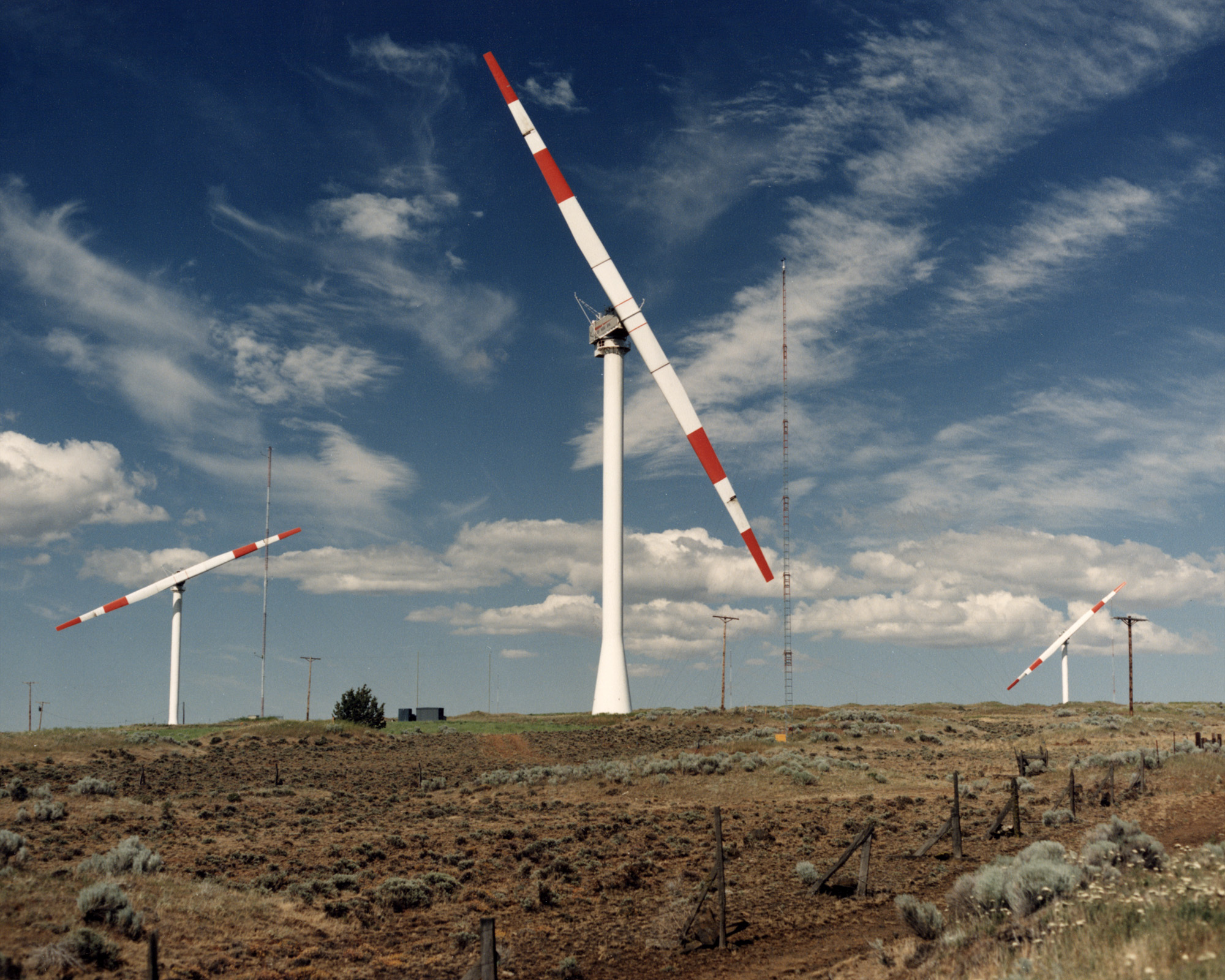 hight resolution of the experimental mod 2 cluster of wind turbines in washington state that provided a crucial early boost to wind power research in the 1980s