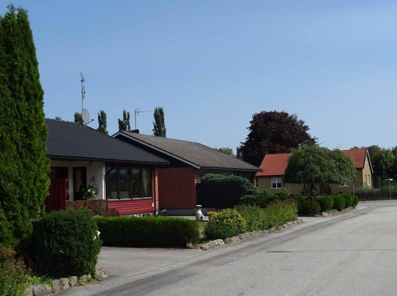 Villaområde med risk för radon i hus