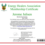 Jerome Julisen ordinary member - upgraded to reiki practitioner later