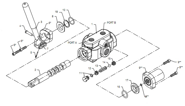 Hydraulic Valve Flow Diagrams, Hydraulic, Free Engine