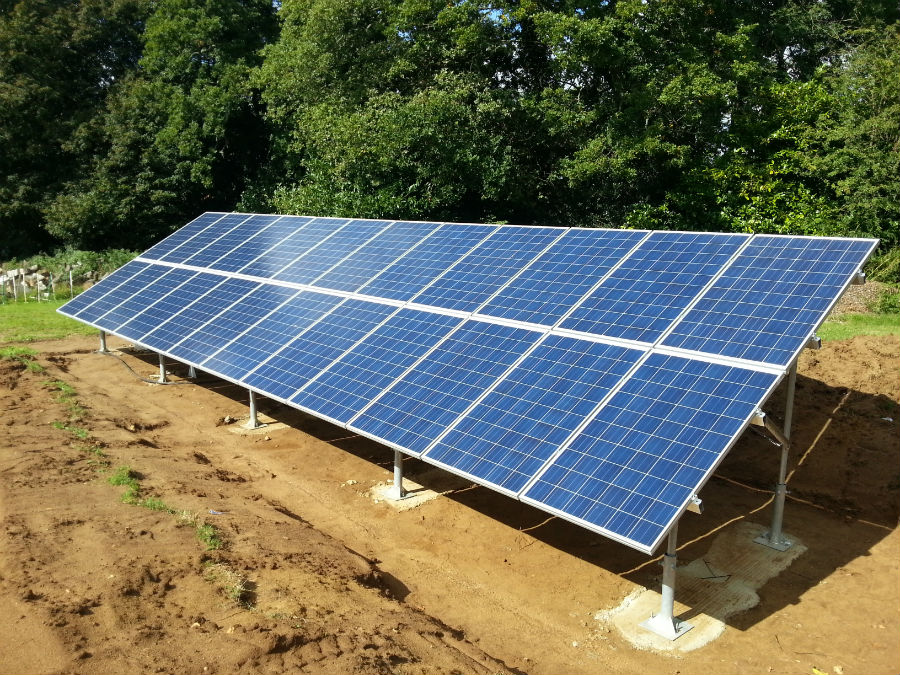 Solar Power System Wiring Along With Solar Panel Ground Mount Systems