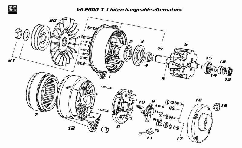 Alternator DELCO-REMY 19025337 and its equivalences