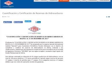 Photo of YPFB: Informe de reservas de gas está a disposición de cualquier ciudadano