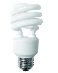 Compact Fluorescent Lamp T3 Mini Spiral Dimmable Soft White