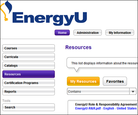 TheEnergyU Administrator Role & Responsibility form is now available as a resource
