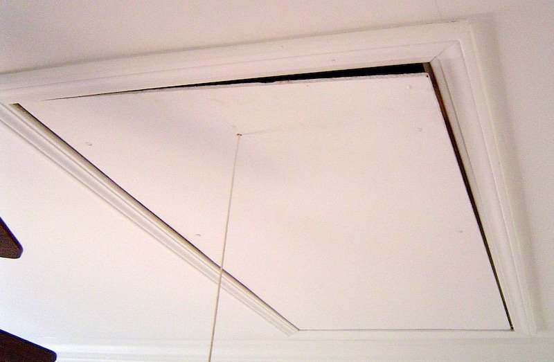 Attic Pulldown Stairs Allow A Mind-blowing Amount Of Heat To Flow Between The House And The Attic