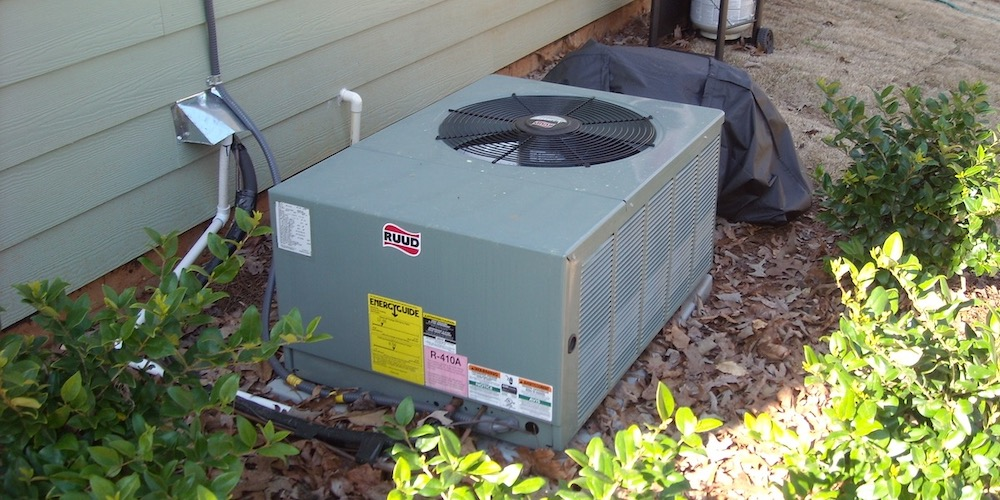 The Outdoor Unit Of An Air Conditioner