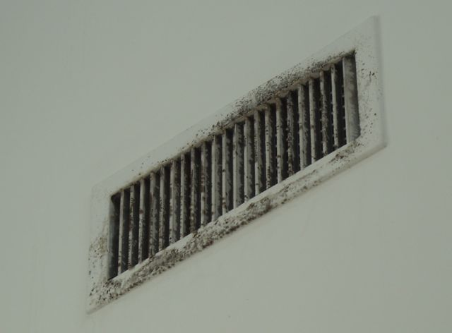 Air Conditioner Supply Vent With Mold Because Of Sweating