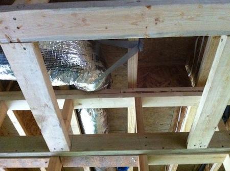 Building Enclosure Air Sealing Garage Ceiling Joists