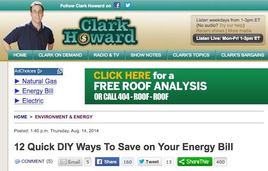 Clark Howard Diy Ways Save Energy Bill