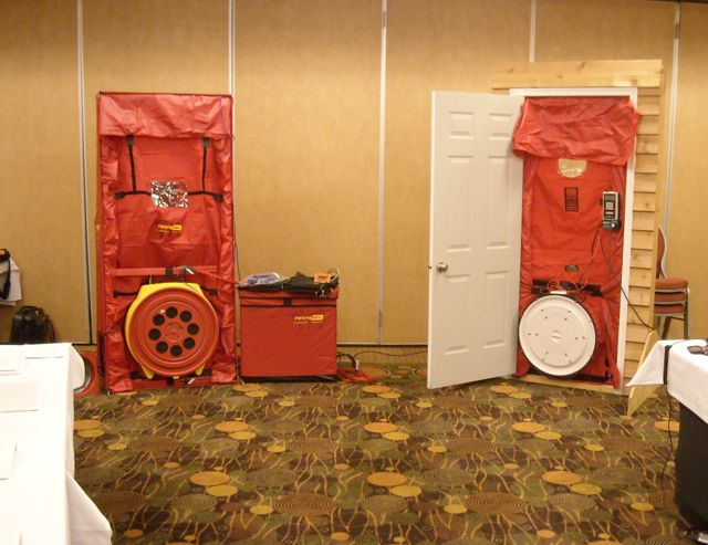 Our 2 Blower Door Setup, With One Minneapolis And One Retrotec System