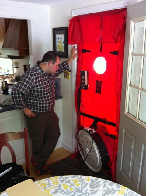 Blower-door-test-home-performance-assessment