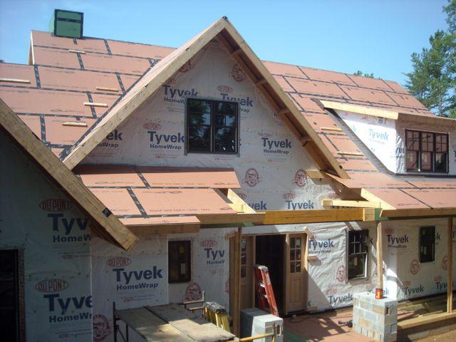 Blower-door-test-untaped-sheathing-gaps-housewrap