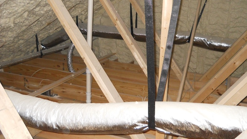 Spray Foam Insulated Attic With Ducts