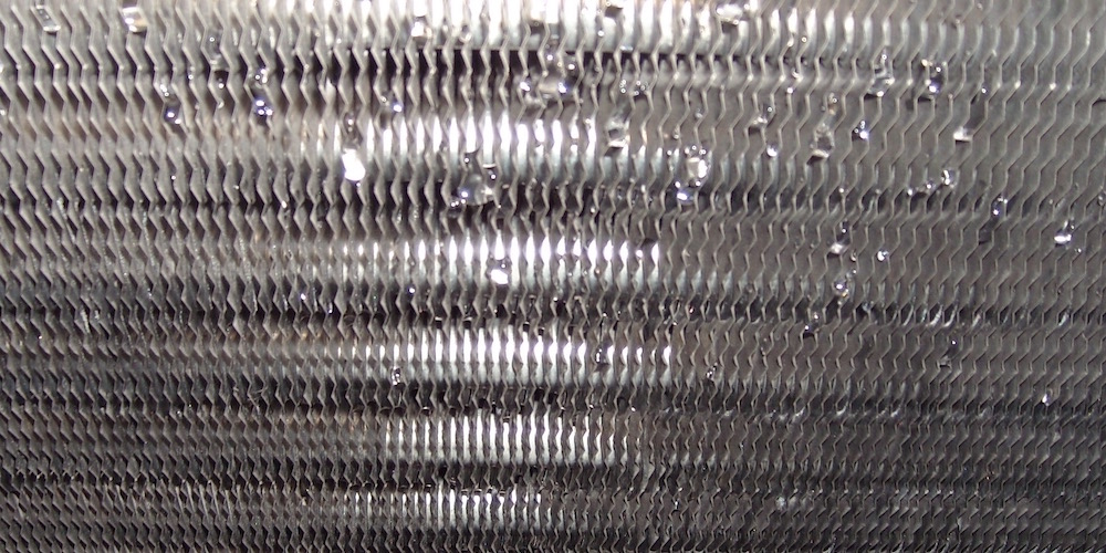 Building Science Term Of The Week: Grains Of Water, Shown Here As Condensation On A Dehumidifier Coil