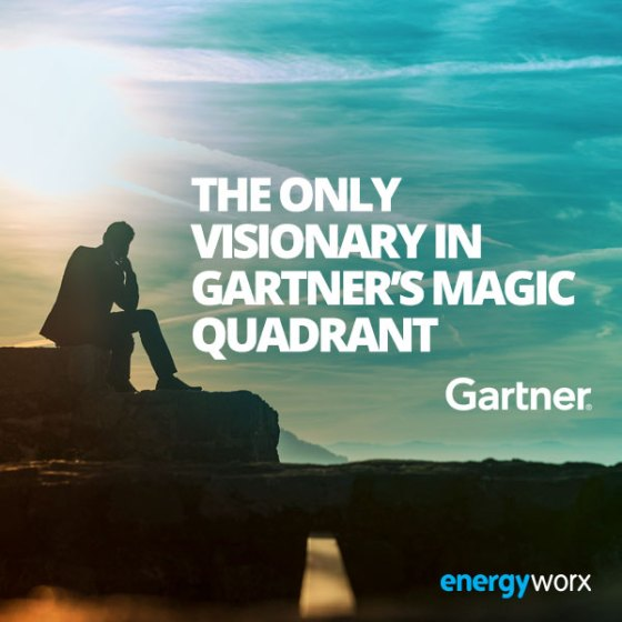Energyworx positioned as the only Visionary in Gartner's Magic Quadrant