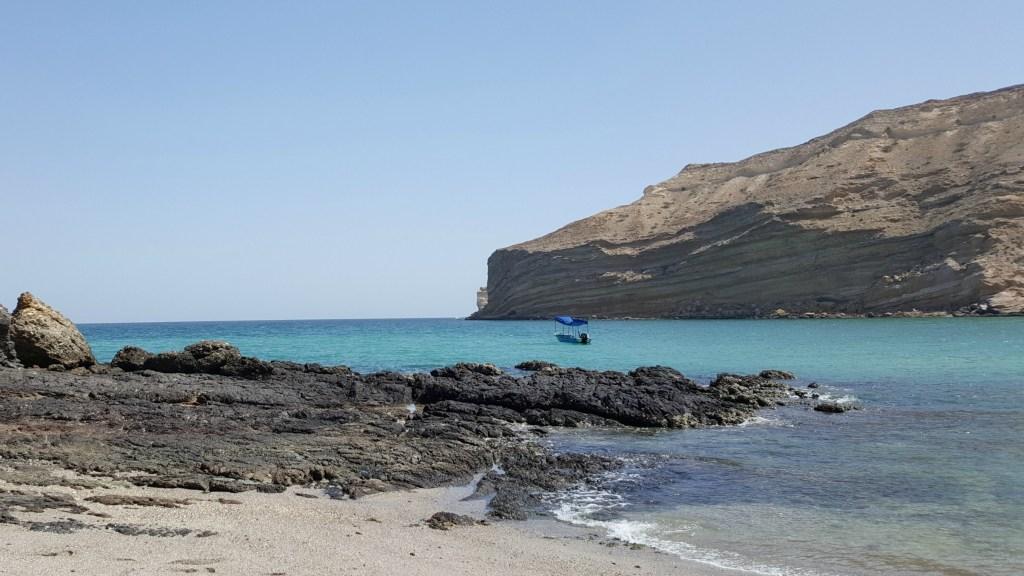Qantab Beach i Muscat i Oman