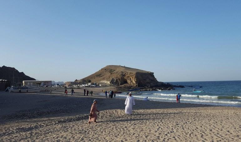 Eftermiddag på Qantab Beach