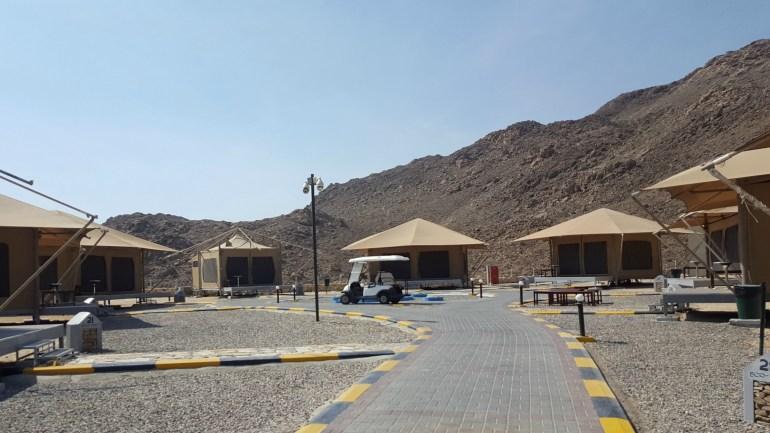 Teltlejren i Ras al Jinz Turtle Reserve i Oman