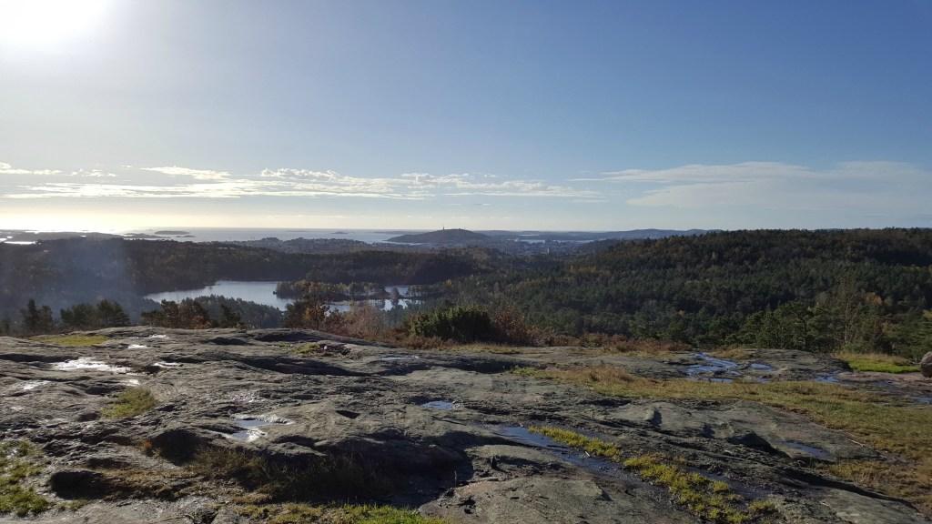 udsigt ud over Kristiansand på Holmekollen
