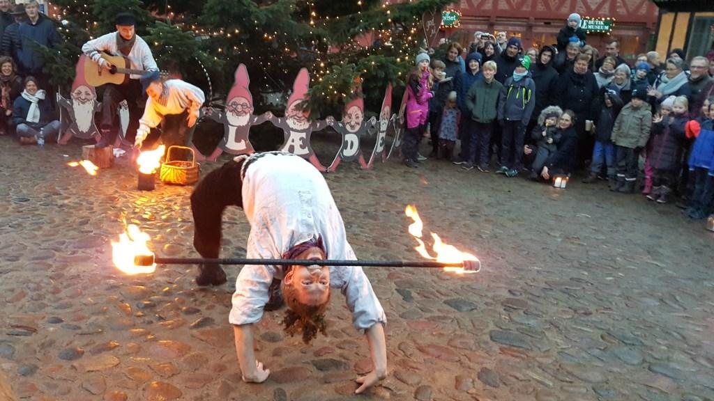 Ildshow i Den Gamle By i Århus