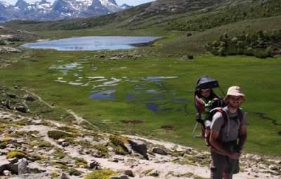 randonnée au lac nino en corse en famille
