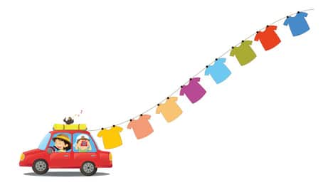voyage avec enfants voiture