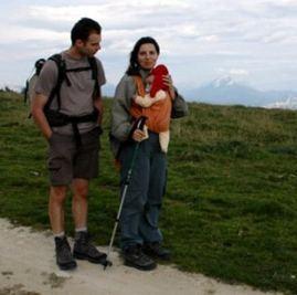 écharpe-de-portage randonnée bébé