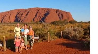 voyage-australie-famille-enfant-van-info ayer rock, rocher rouge