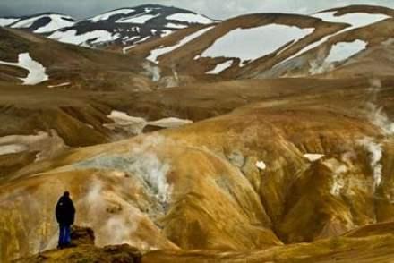 Hveradalir en Islande en famille