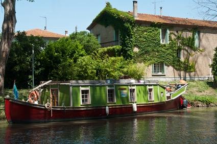 canal-du-midi-et-péniche
