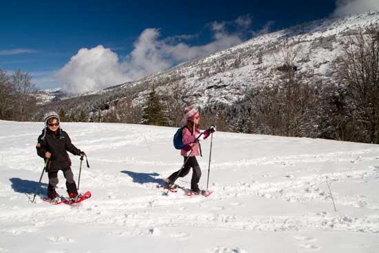 station ski vercors-avec-enfants–en-randonnée-raquette