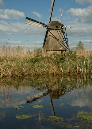 reflet-moulin-Kinderdijk