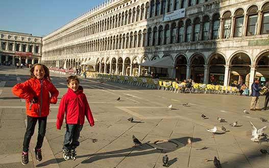 venise-avec-enfants place-st-marc-Italie