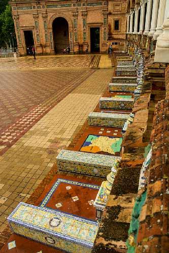 mosaïque-plaza-de-espagna-Séville-Andalousie