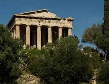 Athènes-en-famille-temple-agora