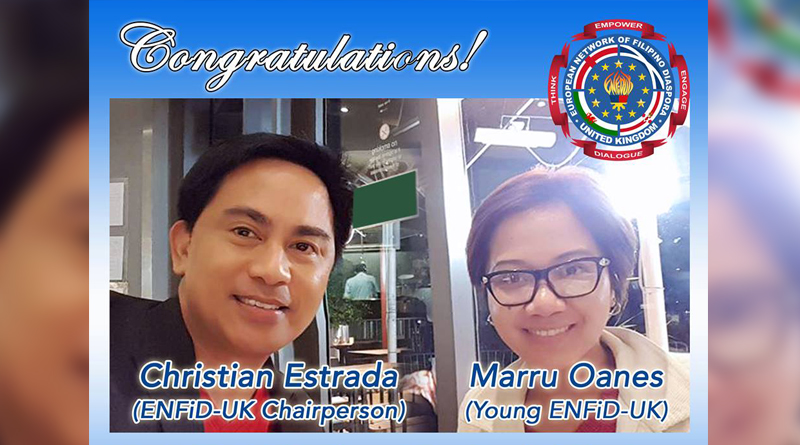 Estrada and Oanes Elected as Board Directors of Europewide Filipino Organisation