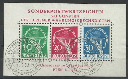 Germany 1949 Berlin Relief Fund MS