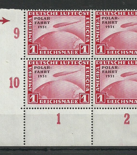 1931 Germany 1rm.Polar Flight