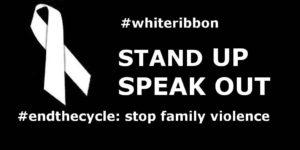 White ribbon poster