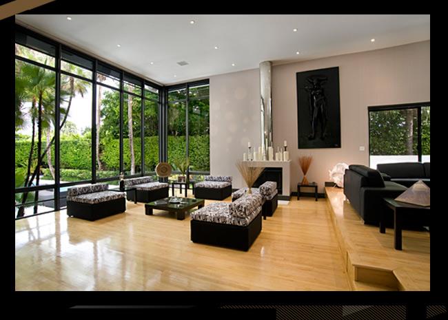 clean living room simple interior ideas a bauhaus-modern villa in prime miami beach location